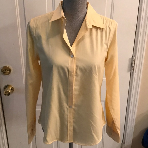 f4ffe471 George Tops | Womens Yellow Button Down Long Sleeve Top | Poshmark